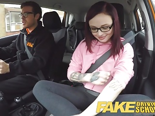 Turn Driving instructor 19yr microscopic American student creampie
