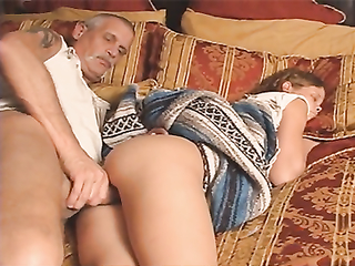 Oversexed grandpa screwed diadem grandaughter to the fullest she was quiescent tight