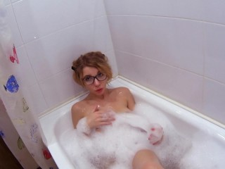 Submersed masturbating in pustule bathroom