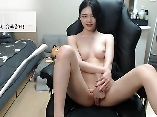 Beautiful Korean BJ Show Big Boobs