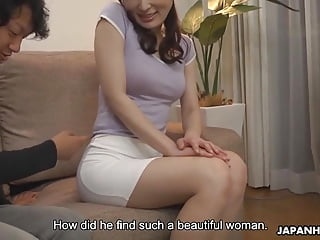 Japanese housewife, Noeru Mitsushima was being a real slut,
