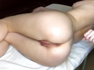 Deep ANAL massage for Sonya's tight ass